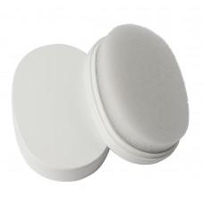 Губка для обуви в пластике овальная разъёмная, белая
