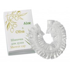 Шапочка для душа в картоне, (Серия «Aloe & Oliva»)
