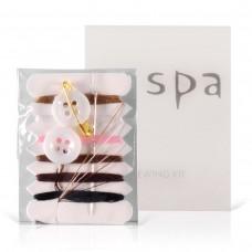 Швейный набор в картоне (нитки, иголка, пуговицы, булавка), Серия «SPA»