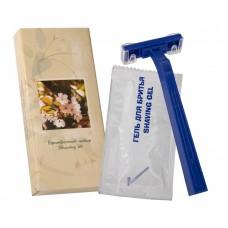 Бритвенный набор в картоне (бритвенный станок + гель для бритья 8 г в саше), (Серия «Сакура»)