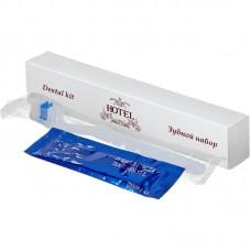 """Зубной набор в картоне (зубн. щётка 14 см. в ПЭ + зубная паста в саше 4 г.), (Серия """"HOTEL"""")"""