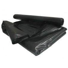 Мешки для мусора на 120 литров, черные, 70х110 см, 45 мкм, пласт (20шт)