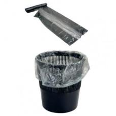Мешки для мусора на 30 литров, черные, 50х60 см, 10 мкм, 1 рулон (20шт)