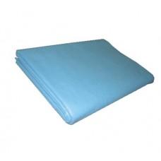 Простыня 200х70 см, SMS, люкс, голубая, 1 упаковка (50 штук)