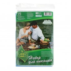 """Набор для пикника """"Good Food"""", скатерть 100х140 см + 6 салфеток 33х33 см"""