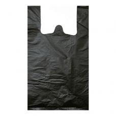 Пакет-майка 23+12х45 черная ПНД 10мкм