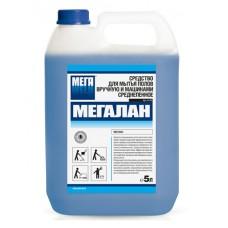 Мегалан. Средство для мытья полов вручную и машинами среднепенное, 5л (канистра)