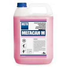 Мегасан М. Средство для очистки и дезинфекции сантехники и кафельной плитки (гель), 5л (канистра)