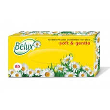 """Салфетки бумажные non-stop косметические """"Belux"""" 2 слоя, белые, 80 шт."""