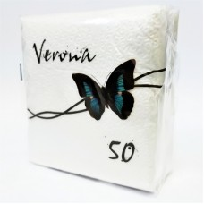 "Салфетки ""Verona"", 1слой, 50 л, белые, 24х24 см, п/п"
