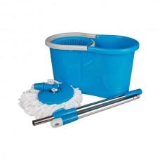 Набор Уют для уборки (ведро 15л с отжимом+швабра) (голубой)