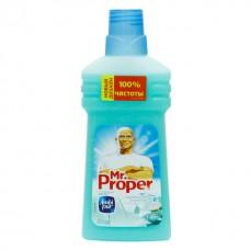 """Моющая жидкость Mr.Proper """"Горный ручей и прохлада"""" для полов и стен, 0,5л"""