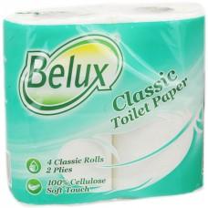 """Бумага туалетная """"Belux Classic"""" 2 слоя, 4 рулона, белая"""