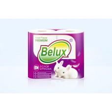 """Бумага туалетная """"Belux Classic"""" 3 слоя, 4 рулона (18м), белая"""