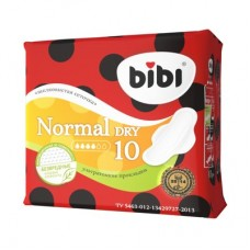 Bibi прокладки, Normal Dry ,10 шт, 4 капли.