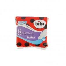 Bibi прокладки, Super Night Soft, ультратонкие, 8 шт, 6 капель