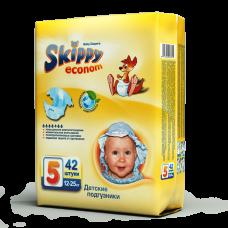 Подгузники для детей Skippy Econom, р-р 5 (12-25кг), 42 шт