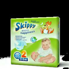 Подгузники для детей Skippy More Happiness, р-р 2 (3-6кг), 90 шт