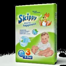 Подгузники для детей Skippy More Happiness, р-р 3 (4-9кг), 81 шт