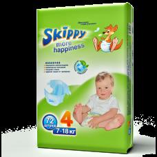 Подгузники для детей Skippy More Happiness, р-р 4 (7-18кг), 72 шт