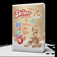 Подгузники для детей Skippy Premium, р-р 4 (7-18 кг.), 74 шт