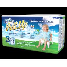 Трусики -подгузники детские Skippy Pull Up, р-р 3 (6-11кг), 36 шт