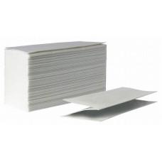 Полотенца бумажные, V-сложение, влагопрочные, белые, 1 слой, 250л