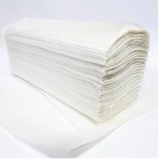 Полотенце бумажное, V-сложение, влагопрочное, белое, 1 слой, 250л