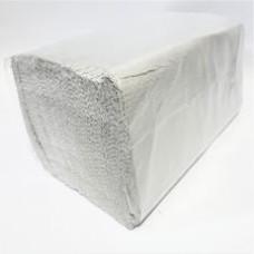 Полотенце бумажное,  V-сложение, 1 слой, 250л, влагопрочное, естественной белизны