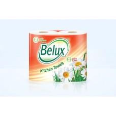 """Полотенца бумажные """"Belux"""" 2 слоя, 2 рулона, белые"""